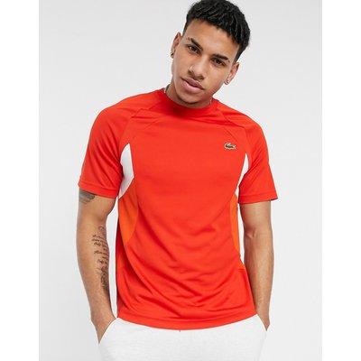 Lacoste Sport – Atmungsaktives Tennis-T-Shirt mit Farbblock-Design-Rot | LACOSTE SALE