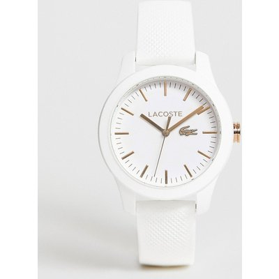 Lacoste – Weiße Damen-Armbanduhr aus Silikon