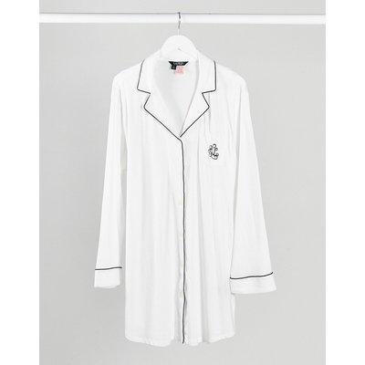 LAUREN by Ralph Lauren – Langärmliges Hemd mit schwarzer Paspelierung-Weiß