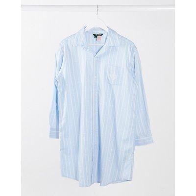 LAUREN by Ralph Lauren – Nachthemd in Blau gestreift