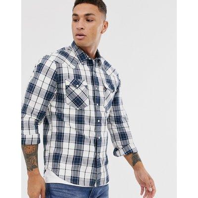 Levi's – Barstow – Kariertes Westernhemd mit doppelter Tasche-Blau