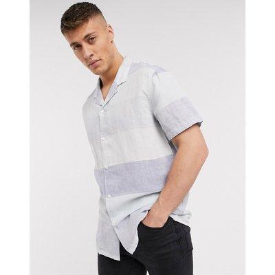 Levi's – Cubano – Gestreiftes, kurzärmliges Hemd-Blau