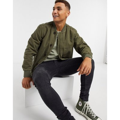 Levi's – Deck Bomber – Hemd in Olive Night-Grün