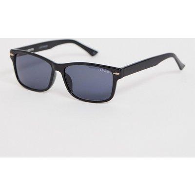 Levi's – Eckige, schwarze Brille mit getönten Gläsern