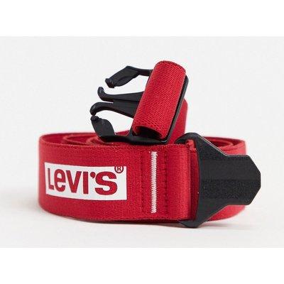 Levi's – Gürtel mit großer Schnalle-Rot