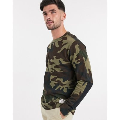 Levi's – Mighty Made – Langärmliges Shirt mit Military-Muster-Grün