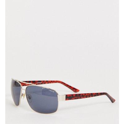 Levi's – Pilotensonnenbrille in Schildpatt-Optik-Mehrfarbig