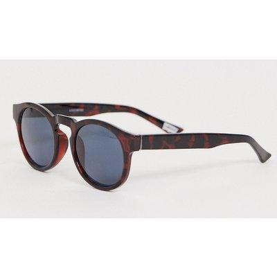 Levi's – Retro-Sonnenbrille in glänzender Schildpatt-Optik mit polarisierten Gläsern-Braun