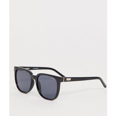 Levi's – Sonnenbrille mit eckiger Fassung in Schwarz