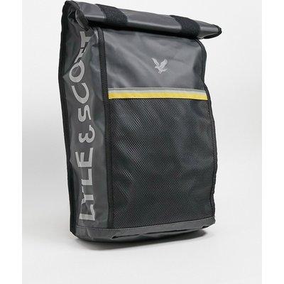 Lyle & Scott – Backpack mit Umschlagklappe-Schwarz