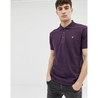 Lyle & Scott – Einfarbiges Polohemd-Violett