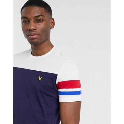 Lyle & Scott – T-Shirt mit Kontraststreifen-Navy