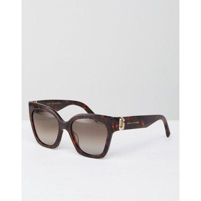 Marc Jacobs – Katzenaugen-Sonnenbrille mit dickem Rahmen-Braun
