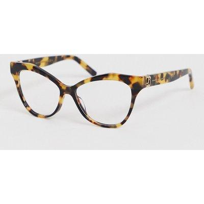 MARC JACOBS Marc Jacobs – Katzenaugenbrille in Schildpattoptik mit klaren Gläsern-Braun