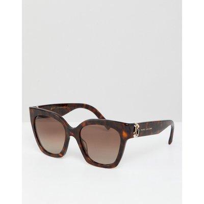Marc Jacobs – Katzenaugensonnenbrille in Schildplattoptik-Braun