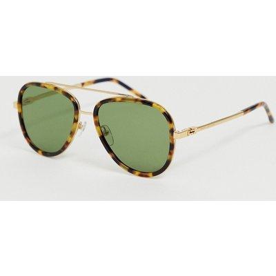 Marc Jacobs – Schildplatt-Pilotensonnenbrille-Mehrfarbig