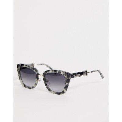 Marc Jacobs – Sonnenbrille mit eckigem Rahmen in Grau-Schildpatt