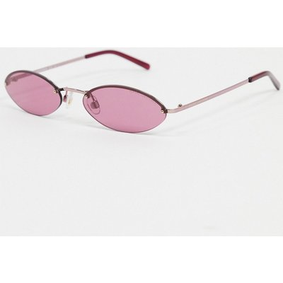 MARC JACOBS Mark Jacobs – Ovale Sonnenbrille in Rosa