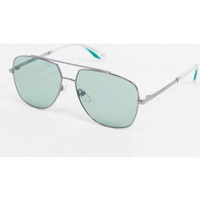 MARC JACOBS Mark Jacobs – Silberne Pilotensonnenbrille mit grünen Gläsern
