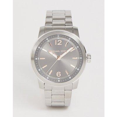 Michael Kors – Armbanduhr mit grauem Zifferblatt, Herren-Silber