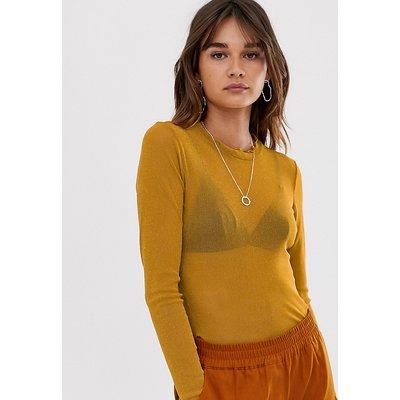 Minimum – Pullover mit Rundhalsausschnitt-Gelb