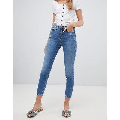 New Look – Lässige, enge Jeans-Blau