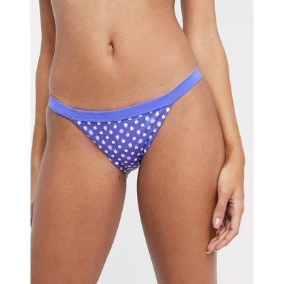 Nike – Bikinihose in Saphir mit Tupfen-Mehrfarbig