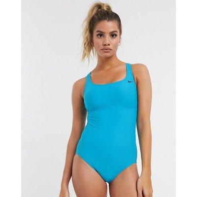 Nike – Epic – Einteiliger Badeanzug mit Ringerrücken-Blau
