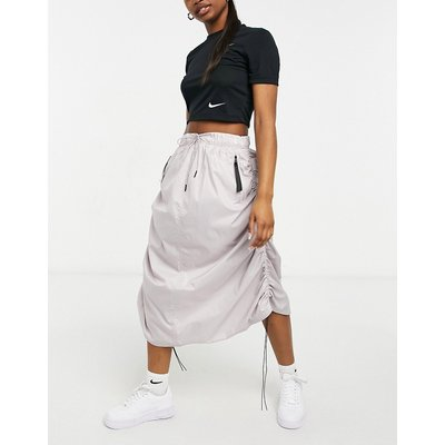 Nike MOVE TO ZERO woven maxi skirt in tan