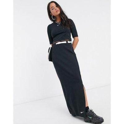 Nike tech pack utility pocket maxi skirt in black