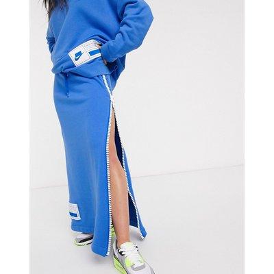 Nike Zip Side Blue Maxi Skirt