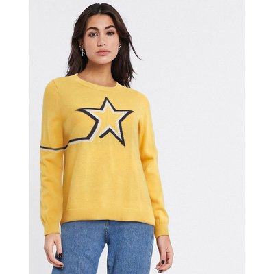 Only – Alma – Pullover mit Sternenprint in Gelb | ONLY SALE