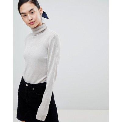 ONLY Only – Darling – Leichter Pullover mit hohem Kragen-Grau