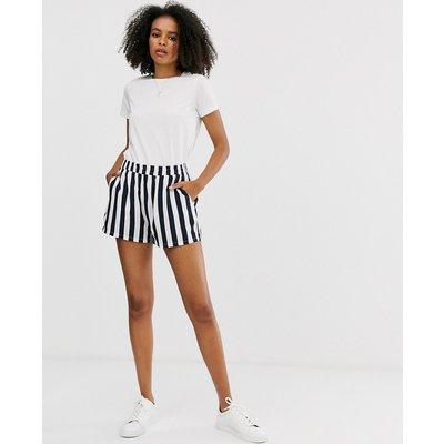 Only – Gestreifte Shorts-Blau