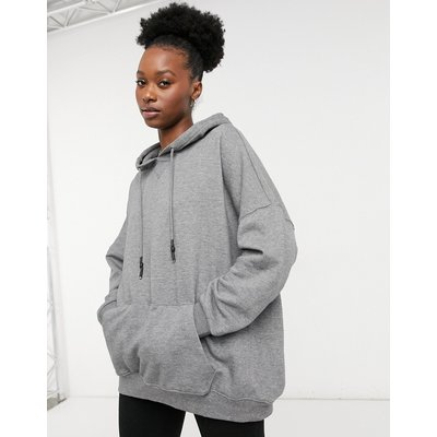 Only – Grauer Oversize-Kapuzenpullover | ONLY SALE