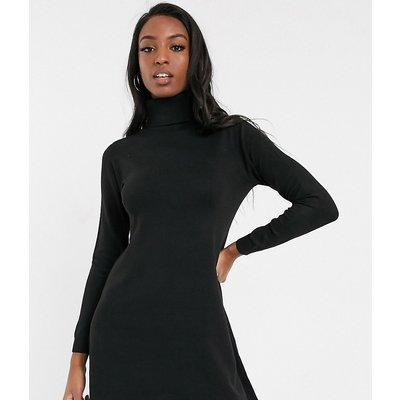 ONLY Only – Julia – Langärmliges Pulloverkleid-Schwarz