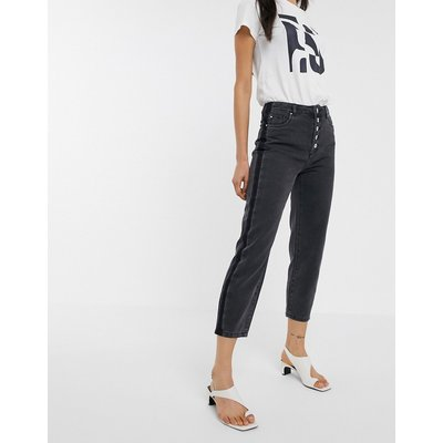 ONLY Only – Kelis – Vorn geknöpfte Mom-Jeans in Schwarz