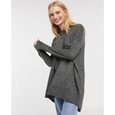 Only – Mirna – Langärmliger Pullover in Dunkelgrau