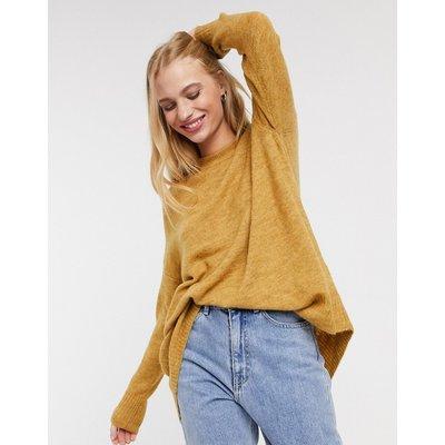 Only – Mirna – Langärmliger Pullover in Gelb