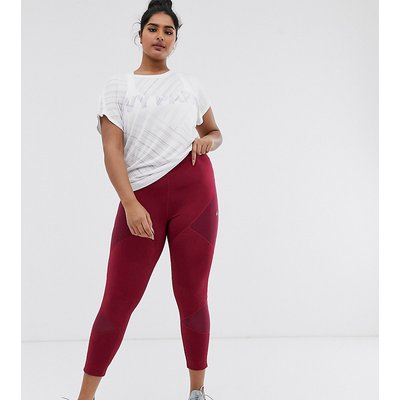 Only Play – Curvy Audry – 7/8-lange Sportleggings-Rot