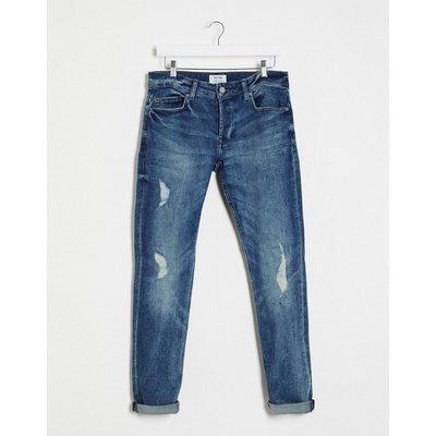 Only & Sons – Schmal geschnittene Jeans in verwaschenem Blau