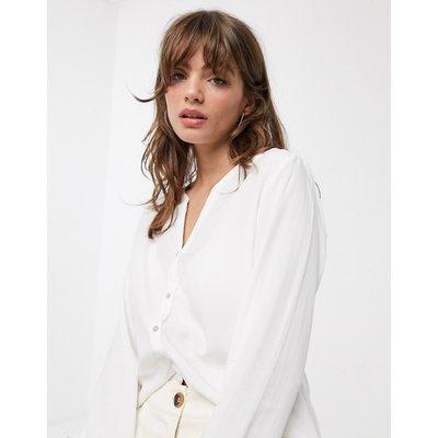 ONLY Only – Sugar – Langärmliges Hemd mit Knöpfen in Weiß
