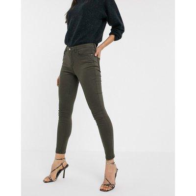 ONLY Onyl – Blair – Knöchellange Skinny-Jeans mit mittelhohem Bund-Schwarz
