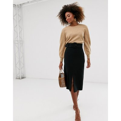 & Other Stories midi pencil skirt in black