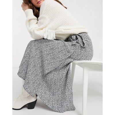 & Other Stories vintage floral wrap midi skirt in black