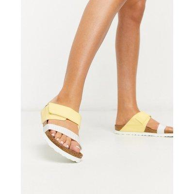 Papillio by Birkenstock – Sandalen mit zwei Riemen in Gelb