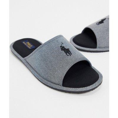 Polo Ralph Lauren – Chambrey-Pantoffeln in Grau
