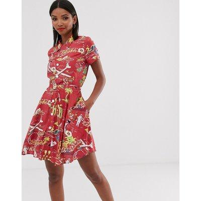 Polo Ralph Lauren hawaiian print tea dress-Beige