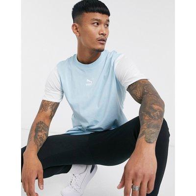 Puma – Blaues T-Shirt mit Logo