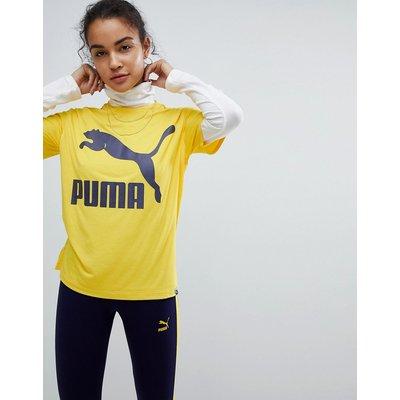 Puma Classics – Senfgelbes T-Shirt mit Logo